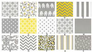 gray and yellow custom crib bedding set you design yellow