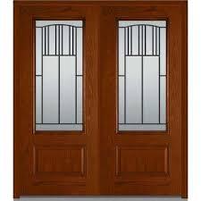 fiberglass front doors with glass double door fiberglass doors front doors the home depot