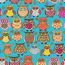 owlie gift wrap paper flat sheet 24 x 6 health