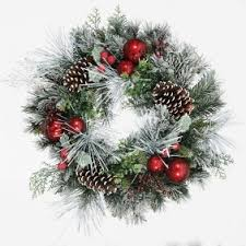 garlands wreaths trees and lights