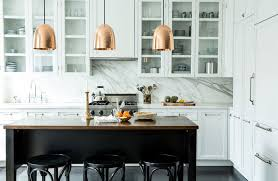 perfect kitchen layout and cabinets love the contrast of white