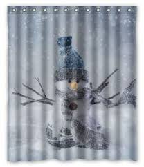 Snowman Shower Curtain Target Home Fashions Of Custom Snowman With Chevron Pattern Waterproof