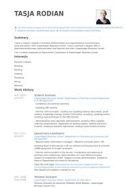 student assistant resume samples visualcv resume samples database