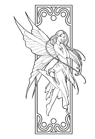 beautiful fairy coloring pages coloring pages