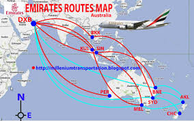 Airline Routes Map by Airlines Routes Map Emirates Routes Map