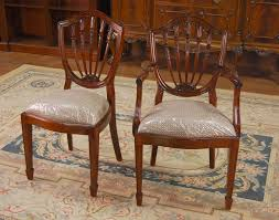 Mahogany Dining Room Chairs Shield Back Dining Chairs Simple Shield Back Dining Chairs