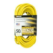 woods 982554 50 feet 12 3 sjtw high visibility extension cord with