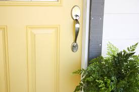 a yellow front door makeover ask anna