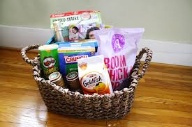Junk Food Basket Curlyqpaper Coming To America Welcome Basket
