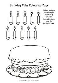 birthday cake coloring pages picture 4 letter