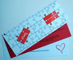 faire part mariage puzzle puzzle déco mariage mailart katedine postal coups de