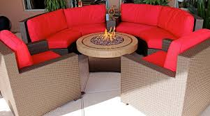 Circle Patio Furniture by Patio Ideas Round Patio Table Fire Pit With Wicker Patio