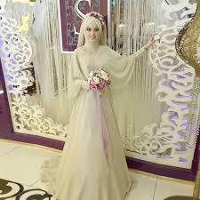 champagne long sleeve muslim wedding dresses hijab luxury african