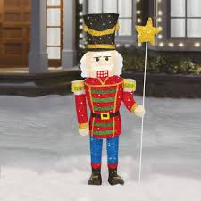 65 U201d Indoor Outdoor Tinsel Soldier Nutcracker Christmas Tree
