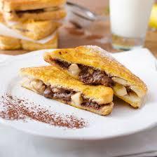 cuisiner banane recette croque de perdu banane chocolat facile rapide