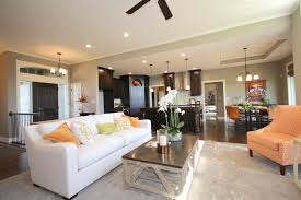 the family room and open format kitchen provide for a for nice