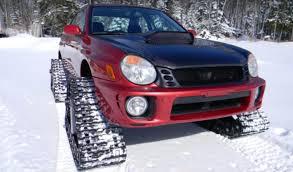 2002 subaru impreza wrx tackles snow using four tracks autoevolution