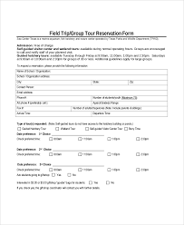 sample tour reservation form 6 documents in pdf word