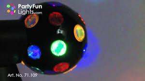 double rotating disco light black 2x10cm 71109 youtube