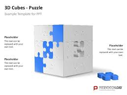 powerpoint 3 d cubes puzzle template