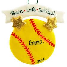 softball ornaments chrismas 2017