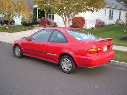 94 honda civic ex 2 door 5 speed coupe red