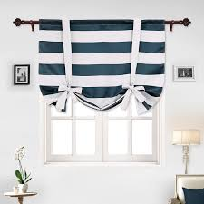 Navy Blue And White Striped Curtains by Shop Amazon Com Blinds U0026 Shades