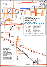 Road Map Of Illinois by Old Plank Road Trail Maps