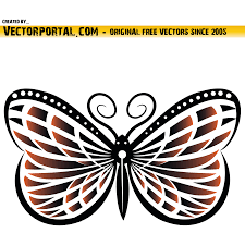 vector for free use butterfly vector clip