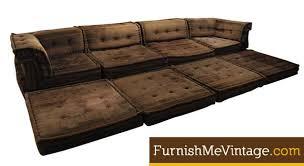 vintage 16 piece roche bobois mah jong sofa