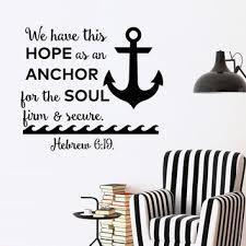 Love Anchors The Soul Wall - shop anchor verse on wanelo