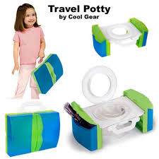 Travel potty chair portable with handles and storage potty