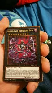 gold rare number 95 galaxy eyes dark matter dragon yu gi oh card