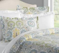Sateen Duvet Cover King Joni Print Duvet Cover U0026 Sham Pottery Barn