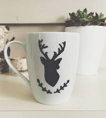 deer painted coffee mug home dining u0026 tableware avenue blue