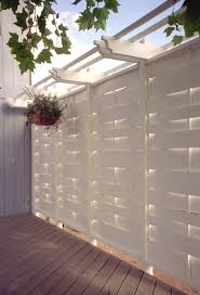 pergola with privacy wall deck privacy solutions images about