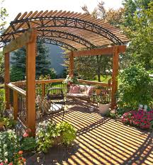 free standing pressure treated wood pergola archadeck outdoor living