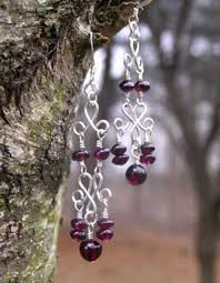 Garnet Chandelier Earrings Handmade Sterling Silver Garnet Chandelier Earrings Damali