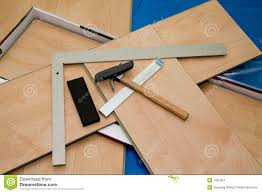 Tools For Laying Laminate Flooring Diy Project Laminate Floor And Tools Used Stock Images Image
