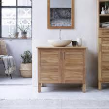 All Wood Vanity For Bathroom Solid Wood Washstand Bathroom Washstand Tikamoon