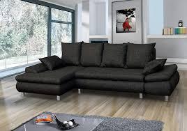 basika canapé canapé d angle à droite jalis pu noir microfibre grise