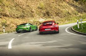 pics of porsche gt mercedes amg gt r vs porsche 911 gt3 test review 2017 by