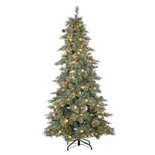 sterling 7 5 ft pre lit mixed needle arcadia fir artificial