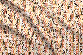 gobble gobble gobble thanksgiving turkey pattern fabric