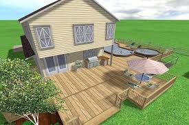 deck vs concrete patio cost deck design and ideas