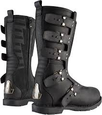 black motorcycle riding boots womens icon 1000 black leather elsinore hp motorcycle riding