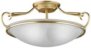 Wohnzimmerlampe Anklemmen Honsel Leuchten 88973 Deckenleuchte Mattmessing Glas