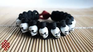 bracelet skull beads images Skull band paracord bracelet tutorial jpg