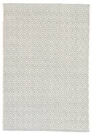 White Cotton Rug Dash And Albert Lattice Sky Woven Cotton Rug Ships Free
