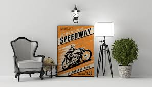 retro modern motorcycle racing poster on behance this is the motorcycle poster 24x36 i got inspiration from vintage motorcycle posters and put my own spin on it
